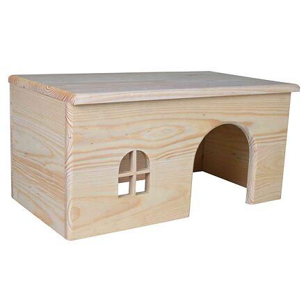 Trixie Dřevěný domek s rovnou střechou pro králíky 40 x 20 x 23 cm