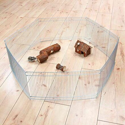 Trixie Pozinkovaná ohrádka pro myši a křečky 6 dílů 48 x 25 cm, ø 90 cm