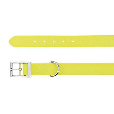 Trixie Easy Life obojek PVC L 51-59 cm/25 mm neon žlutý - DOPRODEJ