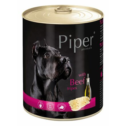 PIPER s hovězími dršťkami, konzerva pro psy 800g