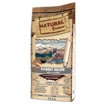 Natural Greatness Rabbit Recipe All Br.Light,Fit/králík/12kg