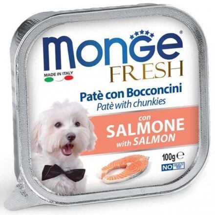 Monge MONGE FRESH - paštika a kousky s lososem 100 g pro psy