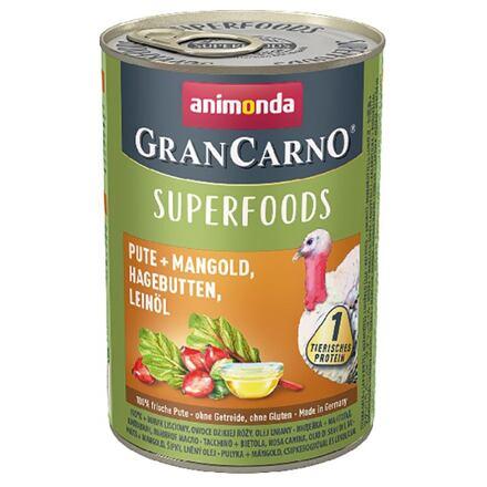 Animonda GRANCARNO Superfoods krůta,mangold,šípky,lněný olej 400 g pro psy