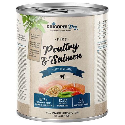 CHICOPEE ADULT čisté drůbeží, rybí filet pro psy 800 g