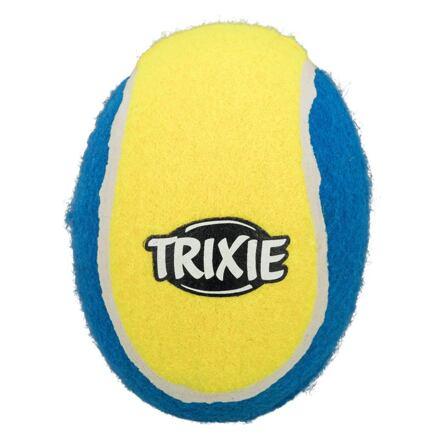 Tenisový ragby míč modro-žlutý TRIXIE 12 cm - DOPRODEJ