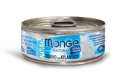 MONGE NATURAL atlantický tuňák pro kočky 80 g