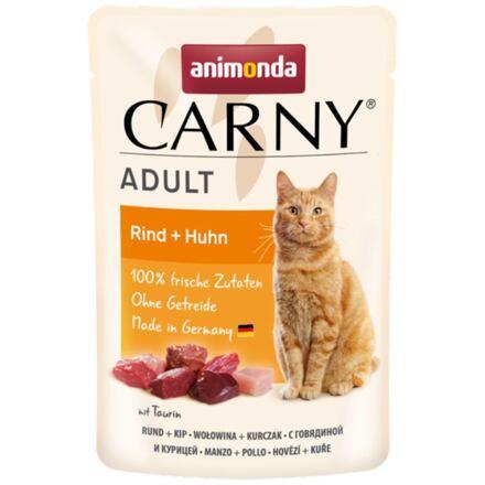Carny Adult 85 g hovězí + kuřecí, kapsička pro kočky