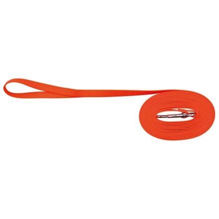 Easy Life trekové vodítko PVC S-XL 5,00 m/17mm neon oranžová - DOPRODEJ