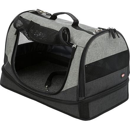 Trixie Transportní taška-pelíšek HOLLY 50x30x30 cm nylon,černo/šedá