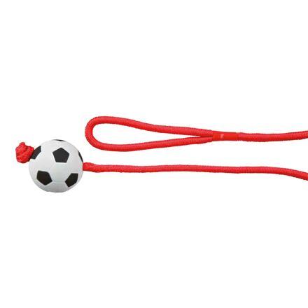 Trixie Vrhací míč mechová guma na šňůře 6cm/1m TRIXIE