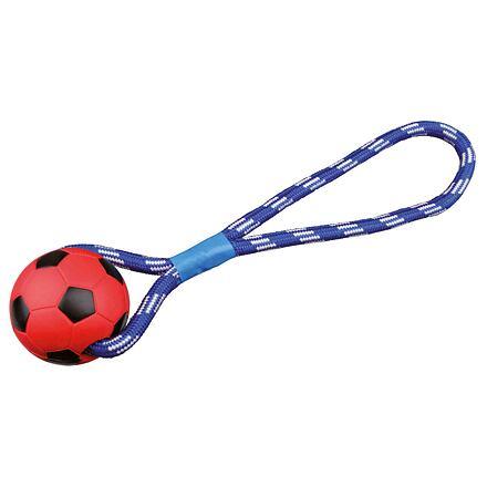 Vrhací míč tvrdá guma na šňůře 8cm/35 cm TRIXIE - DOPRODEJ