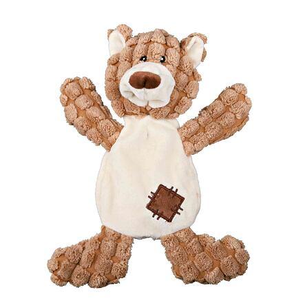 Trixie Plyšový medvěd se záplatami, se zvukem 30 cm - DOPRODEJ