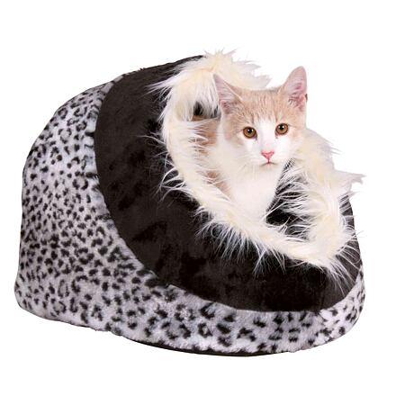 Trixie Koule MINOU motiv sněžný leopard 35x26x41 cm - DOPRODEJ
