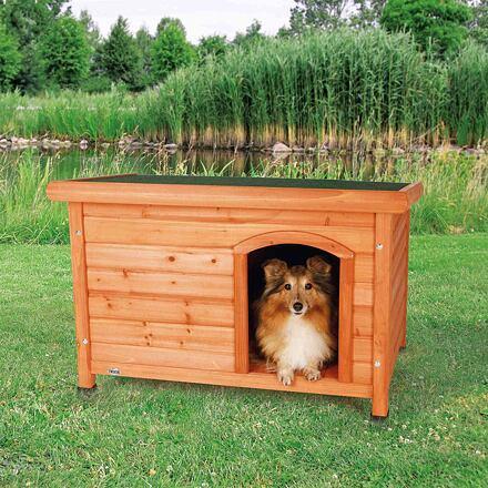 Trixie Bouda pro psa, dřevěná, rovná střecha S-M 85x58x60 cm
