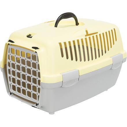Trixie Transportní box CAPRI I. 32x31x48cm max.do 6kg,  - světle šedá/žlutá