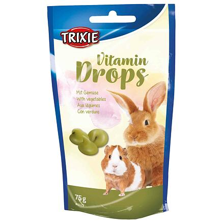 TRIXIE Vitamin Drops se zeleninou pro hlodavce 75g TRIXIE