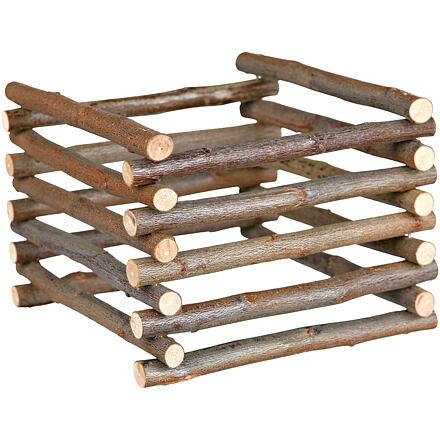 Trixie Natural Living - dřevěný přírodní stojan na seno 15 x 11 x 15 cm