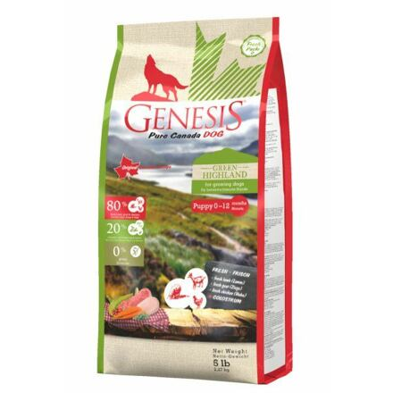 HARRISON PET PRODUCTS INC. Genesis Pure Canada Green Highland Puppy 2,268 kg