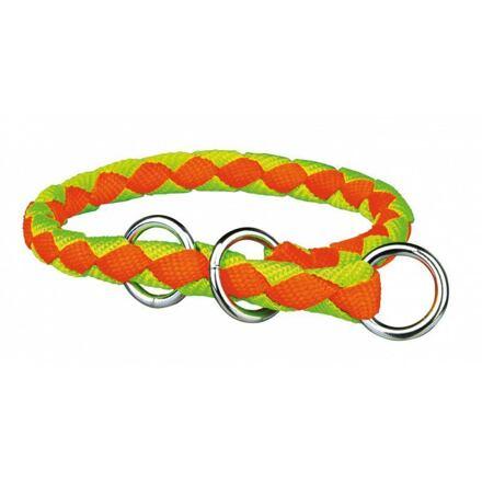 Trixie Nylonový obojek kulatý CAVO (S-M) 30-36 cm/12 mm,  - neon oranž/zelený DOPRODEJ