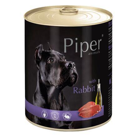 PIPER s králíkem, konzerva pro psy 800g
