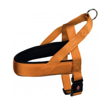 TRIXIE Postroj PREMIUM COMFORT 53-66cm/40mm (M-L),  - měděná oranžová - DOPRODEJ
