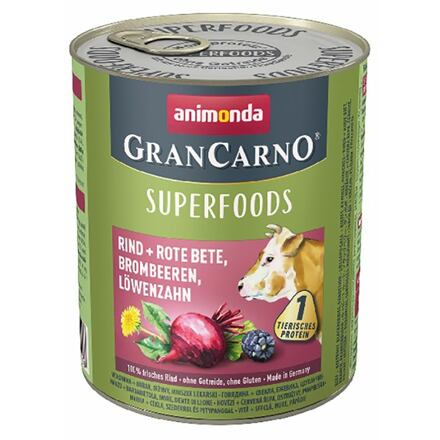 Animonda GRANCARNO Superfoods hovězí,čv.řepa,ostružiny,pampeliška 800 g pro psy