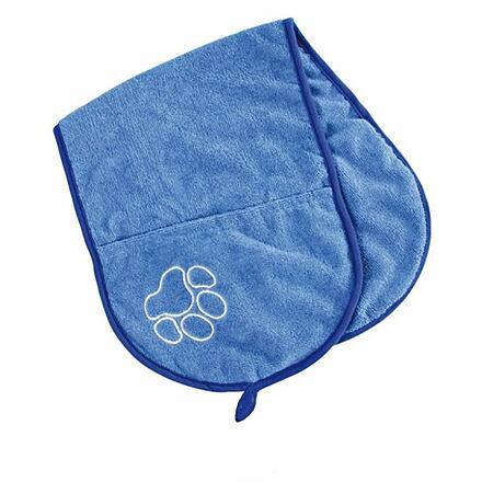 Trixie Vysoušecí šál s kapsami 93x28cm - modrý