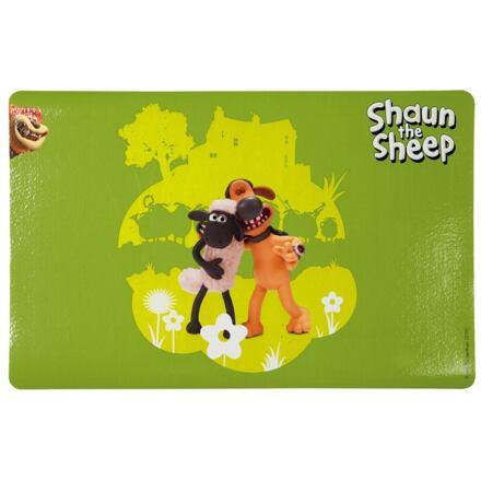 TRIXIE  Ovečka Shaun prostírání pod misky,zelená s postavami 44x28cm - DOPRODEJ