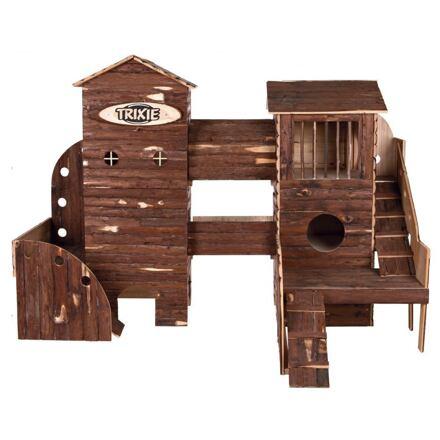 TRIXIE Natural Living ranč dřevěný pro hlodavce 156x108x99 cm - DOPRODEJ