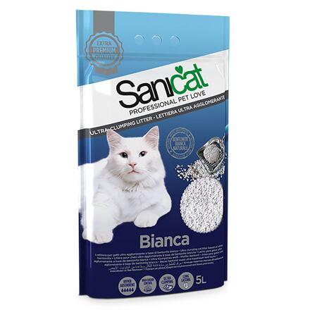 Sanicat SANICAT BIANCA hrudkující bílý bentonit 5 l /4 kg - DOPRODEJ