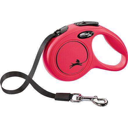 flexi Flexi New Classic XS pásek 3 m, max. 12kg,  - červená