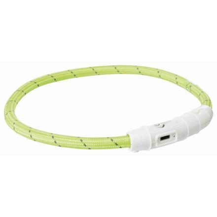 Trixie Svítící kroužek USB na krk XS-S 35 cm zelená