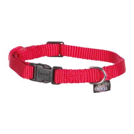 Trixie Nylonový obojek CLASSIC  22-35cm/10mm (XS-S),  - červená
