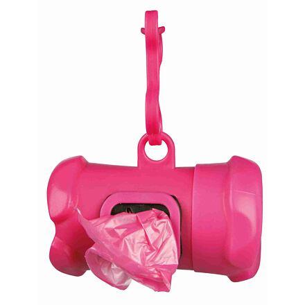 Trixie Plastový zásobník na sáčky na trus, tvar KOST, včetně 1 role 15 ks