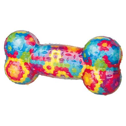 Trixie Házecí různobarevná kost se zvukem, termoplastická guma (TPR) 17 cm