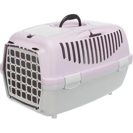 Trixie Transportní box CAPRI 2, XS-S: 37x34x55cm max.do 8kg - světle šedá/světlá lila