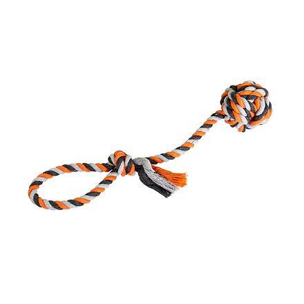 Přetahovadlo HipHop bavlněný míč 7 cm, 38 cm /130 g šedá, tm.šedá, oranžová