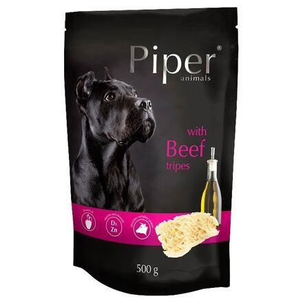 PIPER s hovězími dršťkami, kapsička pro psy 500g