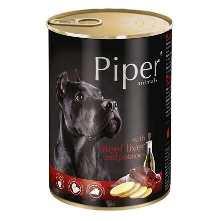 PIPER s hovězími játry a bramborami, konzerva pro psy 400g