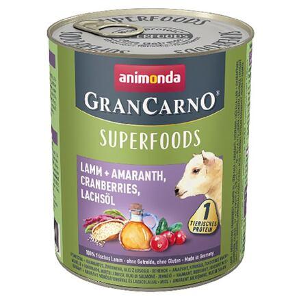 Animonda GRANCARNO Superfoods jehněčí,amarant,brusinky,los.olej 800 g pro psy