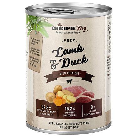 CHICOPEE ADULT čisté jehněčí, kachna, brambory pro psy 400 g