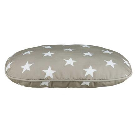 TRIXIE Oválný polštář STARS 100 x 70 šedý s hvězdami - DOPRODEJ