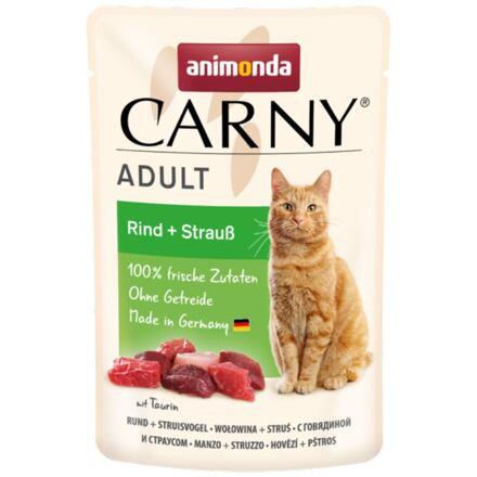 Carny Adult 85 g hovězí + pštros, kapsička pro kočky