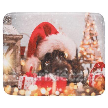 Vánoční plyšová lehací podložka PES 50 x 40 cm