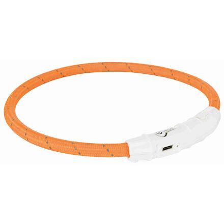 Trixie Svítící kroužek USB na krk XS-S 35 cm/7 mm oranžový