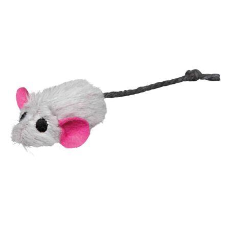 TRIXIE Plyšová myška s pevným středem a catnipem 5 cm (6ks/bal.)