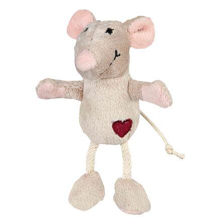 Trixie Plyšová myš se srdíčkem 11 cm
