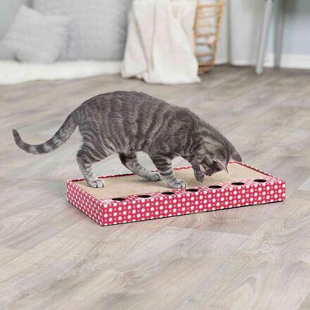 TRIXIE Škrabací karton s hračkou 48 x 25 cm růžový