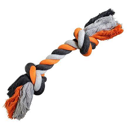 Uzel HipHop bavlněný 2  knoty 41 cm / 460 g šedá, tm.šedá, oranžová