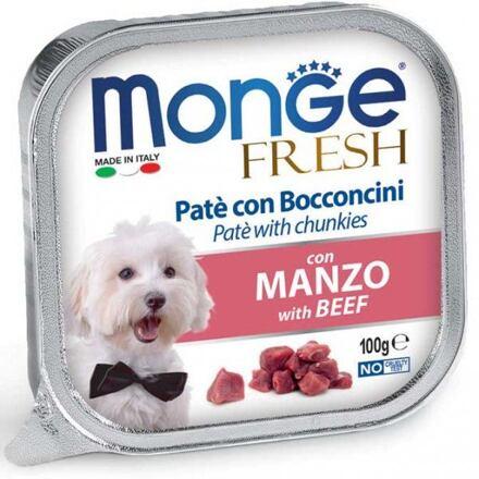 Monge MONGE FRESH - paštika a kousky s hovězím 100 g pro psy